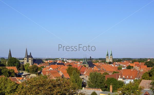 Панорама Кведлинбурга, Германия