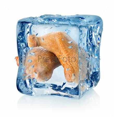 Копченые окорочка в кубике льда