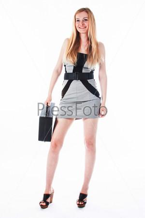 Молодая и красивая женщина секретарь