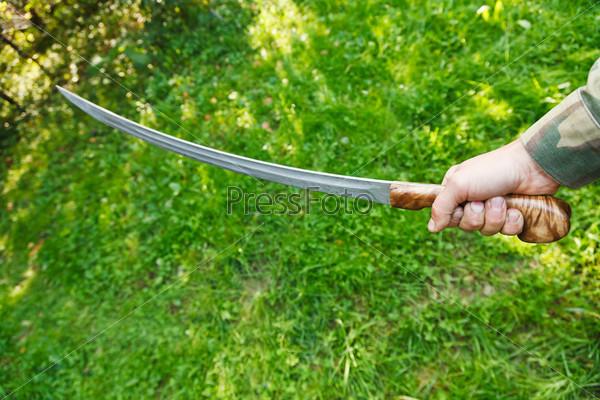 Атака с казацкой саблей