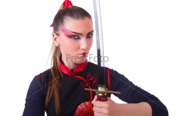 Женщина в концепции японского боевого искусства