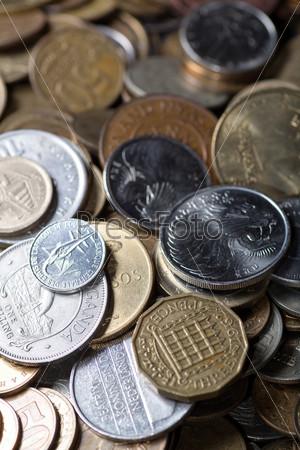 Фотография на тему Различные монеты, фон