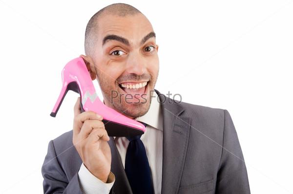 Фотография на тему Мужчина с выбором обуви