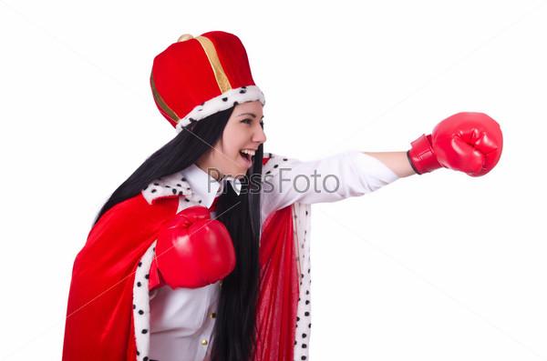 Фотография на тему Королева с боксерскими перчатками