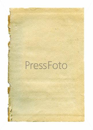 Фотография на тему Старая бумага, изолировано
