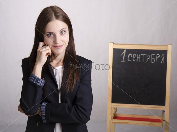 Портрет школьного учителя у доски