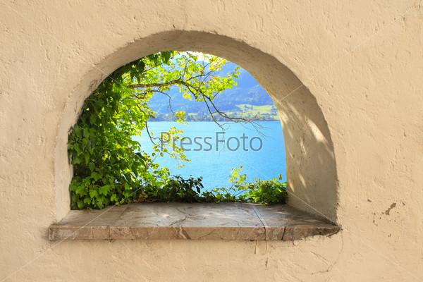 Фотография на тему Вид из окна вид на озеро Вольфгангзее
