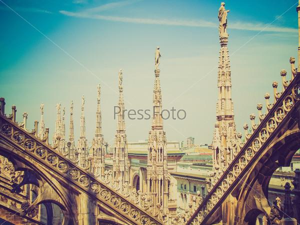 Готический кафедральный собор Дуомо ди Милано, Милан, Италия