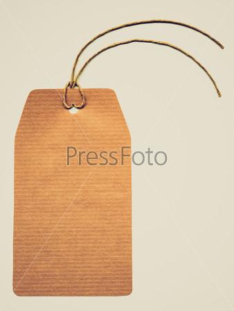 Фотография на тему Этикетка с веревкой