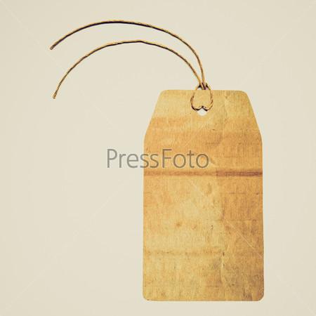 Этикетка с веревкой