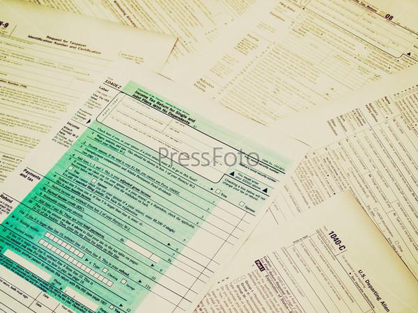 Набор налоговых бланков США