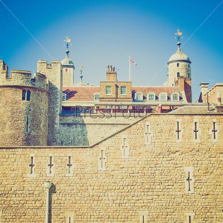 Фотография на тему Винтажная фотография средневекового замка и тюрьмы Тауэр