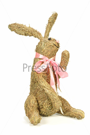 Фотография на тему Соломенный кролик ручной работы