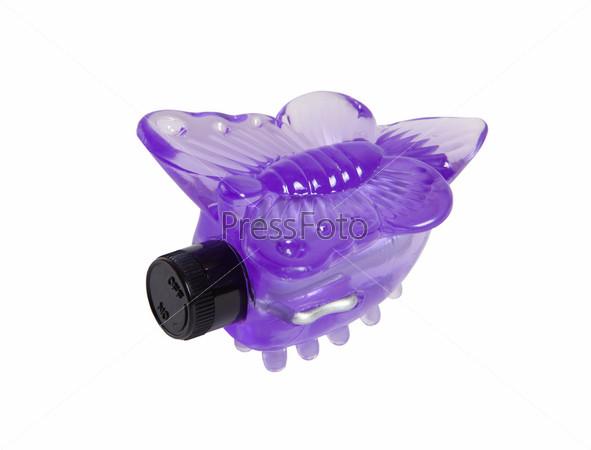 Фиолетовая бабочка, сексуальная игрушка, изолированная
