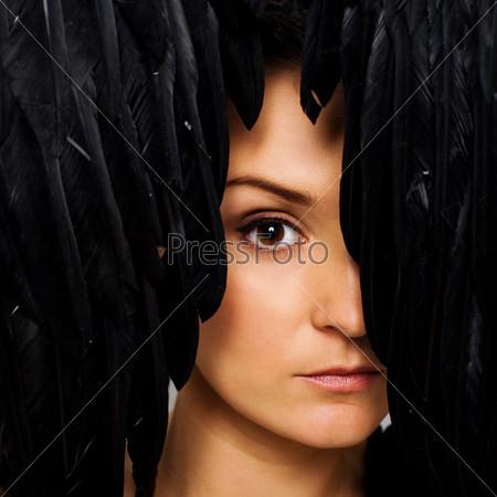 Фотография на тему Лицо модели с совершенным макияжем