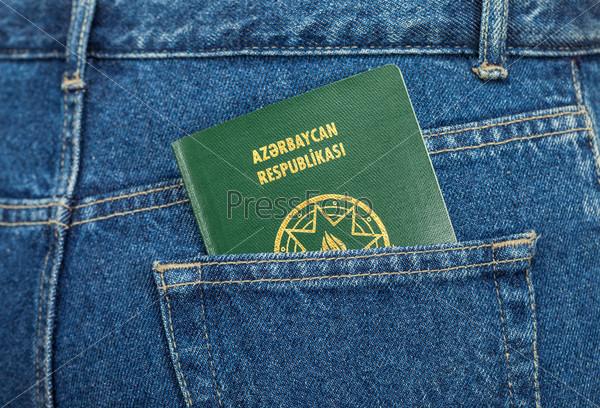 Фотография на тему Азербайджанский паспорт в кармане джинсов