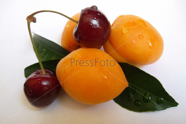 Фотография на тему Черешня с абрикосами