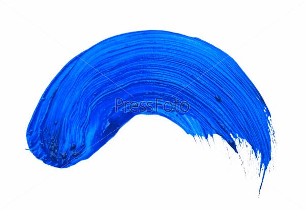Фотография на тему Мазок синей краски | PressFoto
