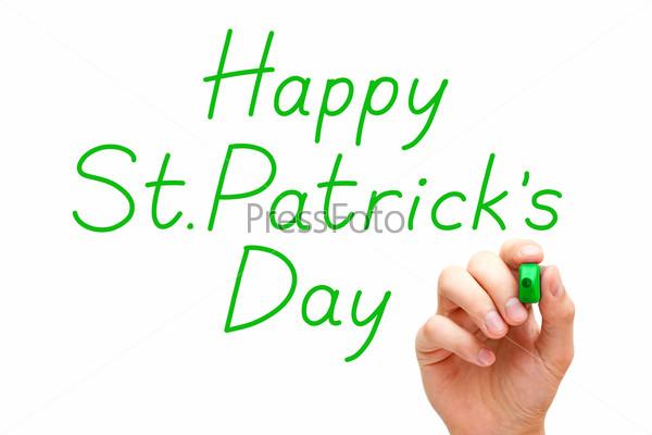 Happy Saint Patricks Day Green Marker