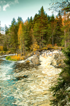 Waterfall in Karelia