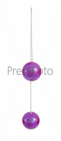 Plastic purple loveballs for woman