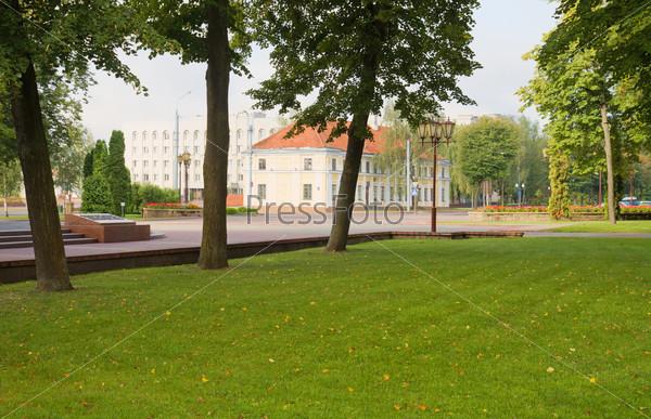 Park in Grodno, Belarus