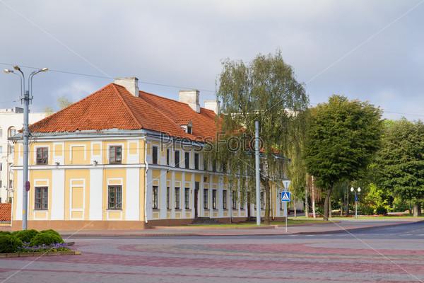 Empty street in morning