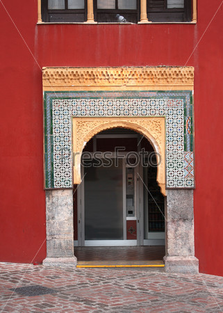 Arch in Great Mosque, Cordoba