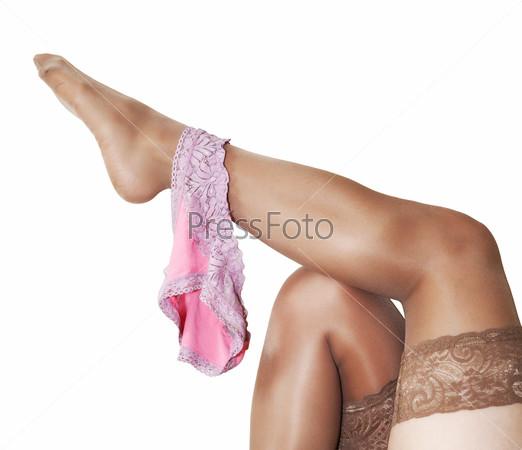 трусики на ноге