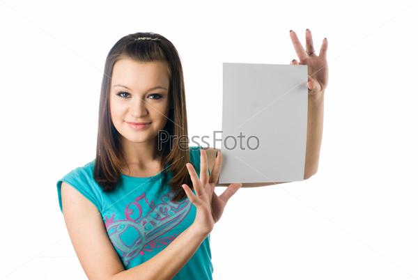 фото как девушка держит слова дин просто всю