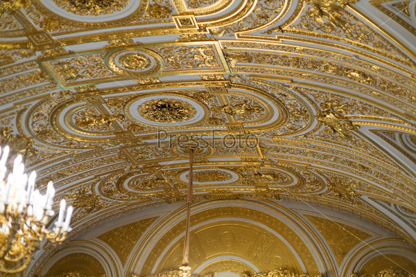 Golden ceiling..