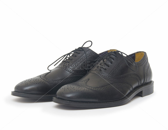 The black man's shoes isolated on white background.