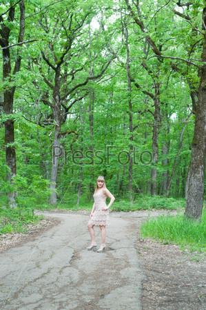 Девушка на прогулке