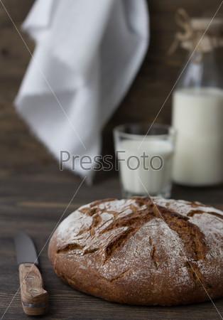 Ржаной хлеб с молоком