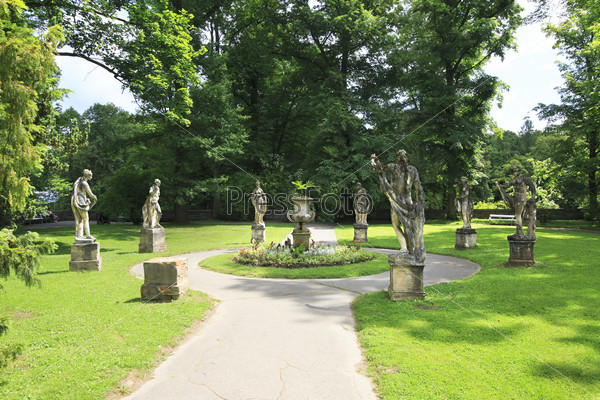 Sculpture in the garden of the castle Konopiste