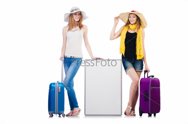 Friends ready for summer vacation