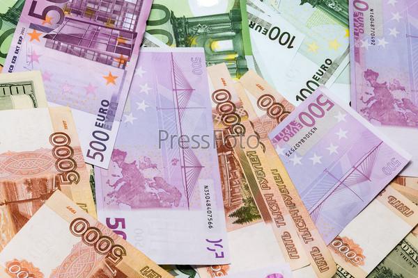 Доллары, евро и рубли