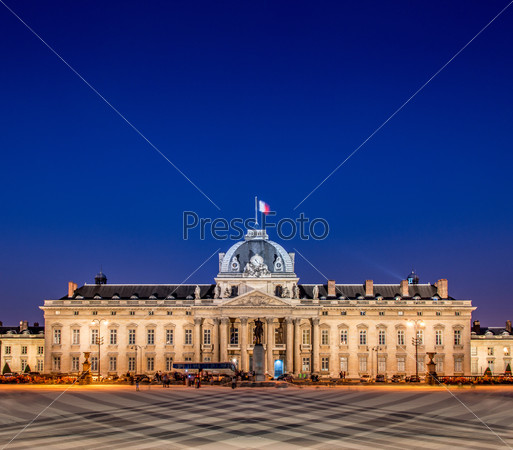 Military school building in Paris, France