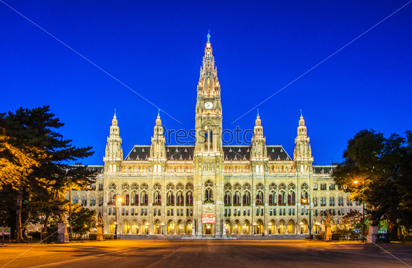 Rathaus Mayor office in Vienna, Austria