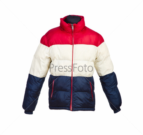 Male winter jacket isolated on the white