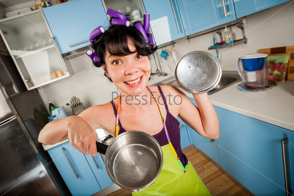 Crazy funny housewife