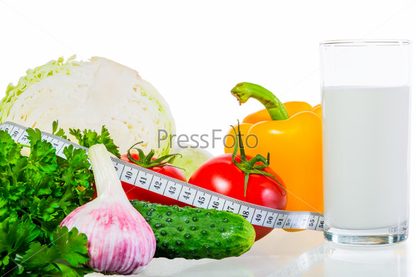 still life with useful food for bulom background