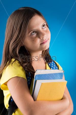 Pensive schoolgirl