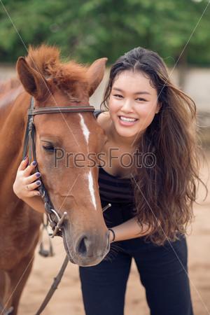 Hugging a pony