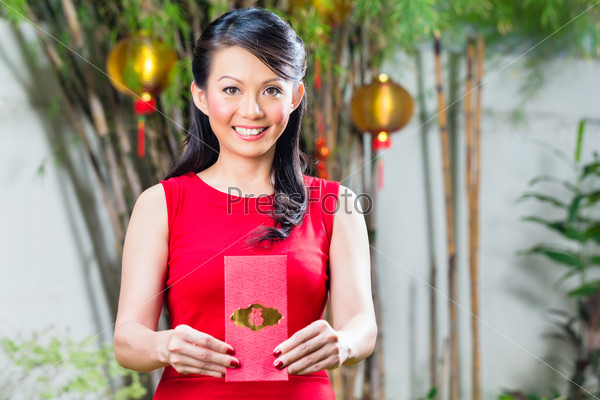 Woman celebrate Chinese new year