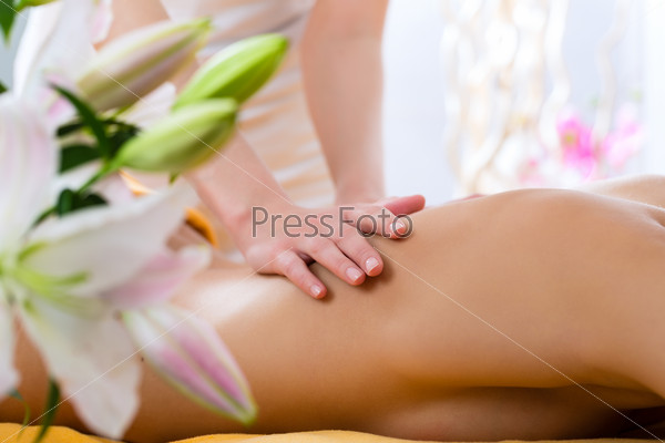 Wellness - woman getting body massage in Spa