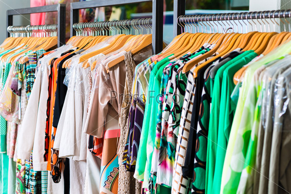 fashion in department store or shop