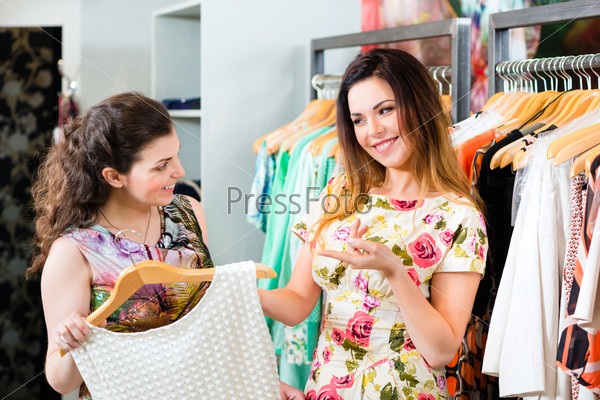 Young women shopping fashion in department store