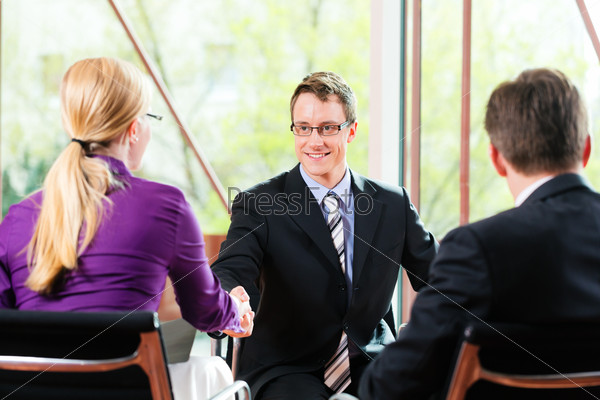 Business - Job Interview with HR and applicant