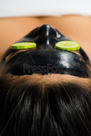 Asian Woman with a face mask